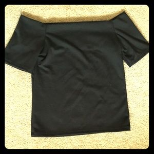 Off shoulder classic black top